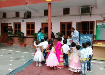 Children Being Appreciated by the Principal