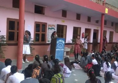 Children and Principal Giving Speech on Various Occasions